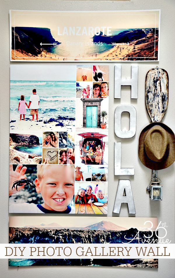 Home Decor - How to create a Photo Wall Gallery at the36thavenue.com #shutterflydecor