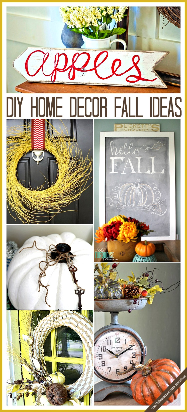Fall Decor Ideas at the36thavenue.com
