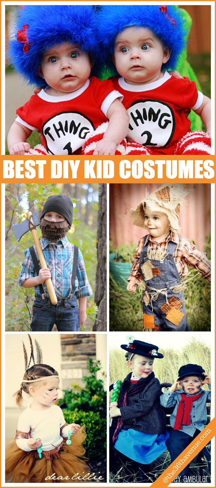 Halloween Costumes - Adorable DIY Costumes for Kids. Easy to make, clever ideas, and from outfits that you may already have at home!