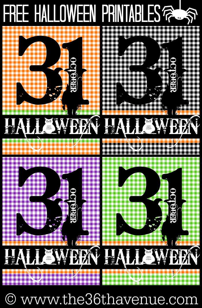 Halloween Free Printables at the36thavenue.com