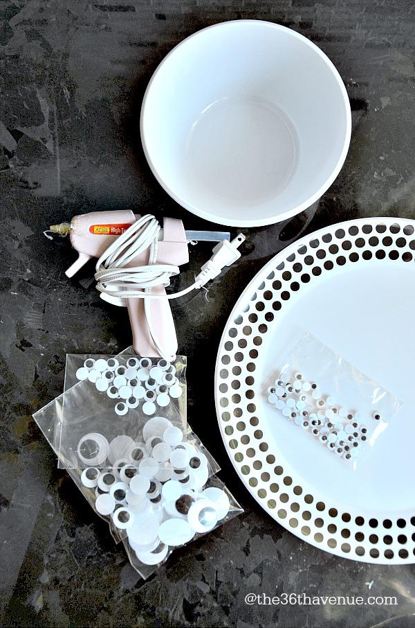 Halloween Platter Materials