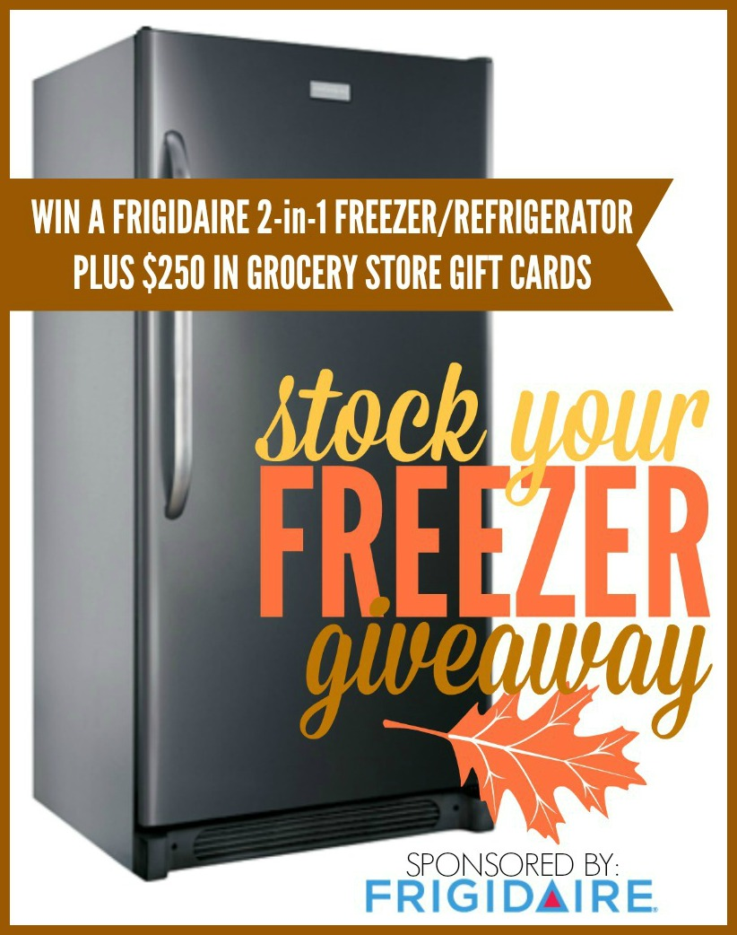 Winn a FRIGIDAIRE 2-in-1 Freezer/Refrigerator PLUS $250 in grocery store Gift Cards over at the36thavenue.com