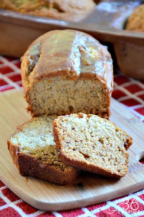 The 36th Avenue Banana Bread Recipe With Almond Glaze
