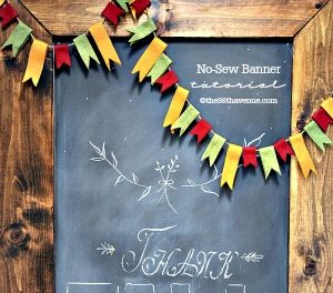 Crafts – DIY No Sew Banner Tutorial