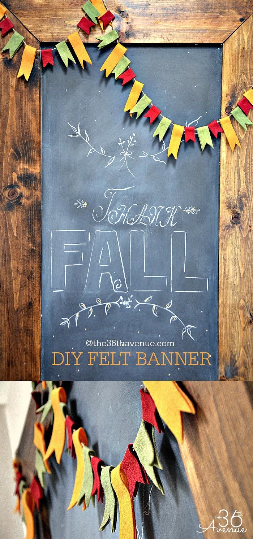 Crafts - DIY No-Sew Felt Banner Tutorial at the36thavenue.com