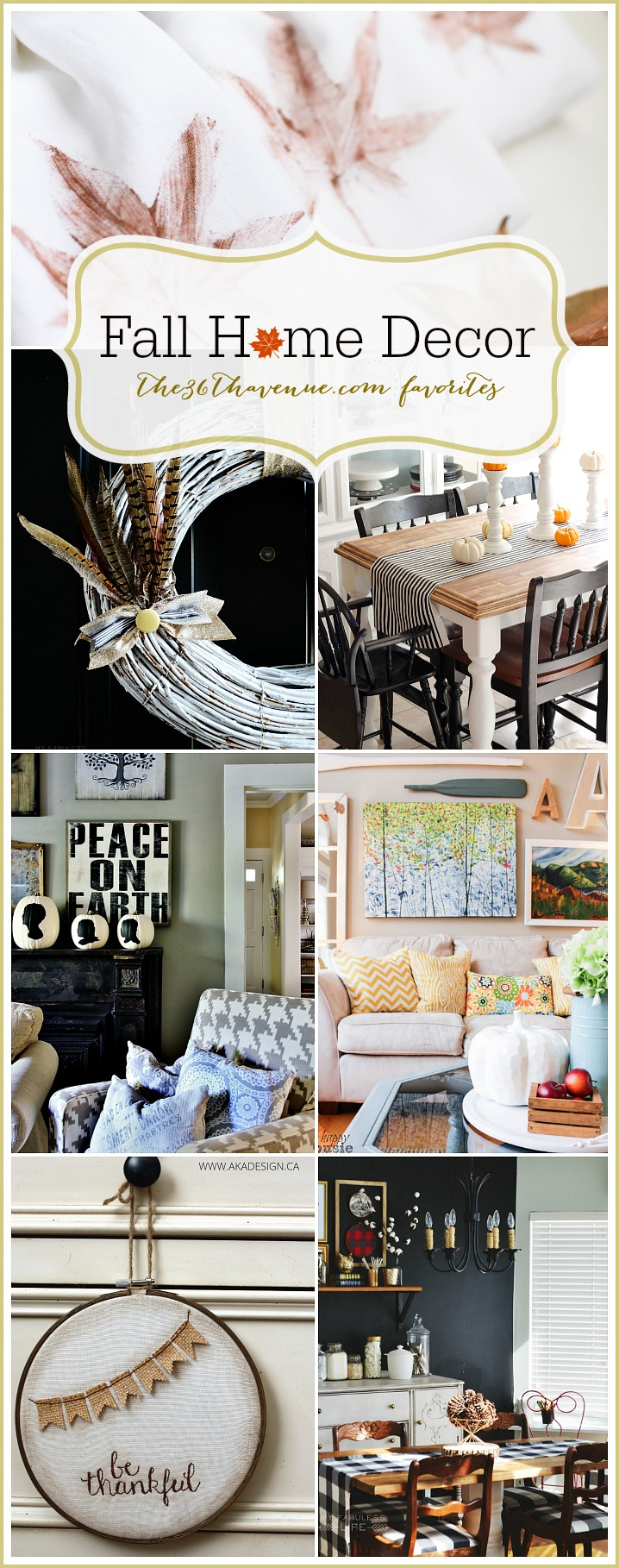 Home Decor - DIY Fall Home Decor Ideas at the36thavenue.com