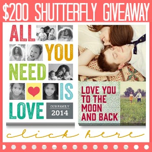 Enter to win $200 Shutterfly Giveaway at the36thavenue.com