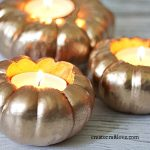 Gold Pumpkin Votives