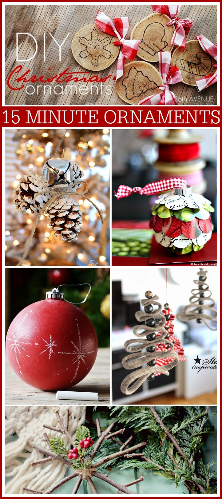 15 Minute DIY Christmas Ornaments - The 36th AVENUE