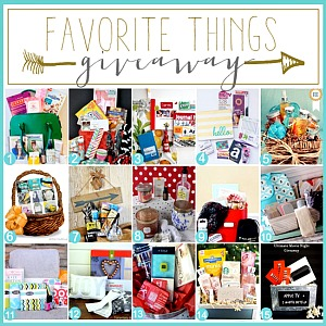Favorite Things Giveaway : 30 Bloggers, 30 Gift Baskets, 30 winners!