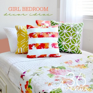 Super cute GIRL BEDROOM. Tons of decor ideas!