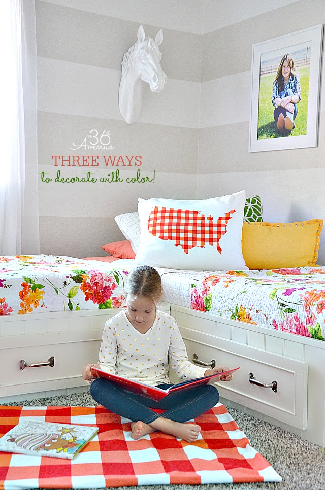 Girls Bedroom Decor Ideas by the36thavenue.com #shutterflydecor