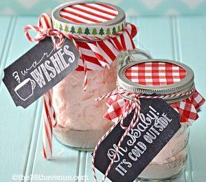 Hot Chocolate and Gift Tag Printable