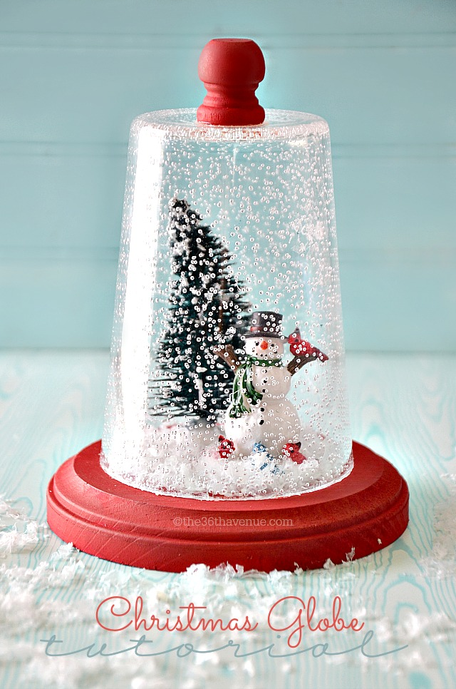 The 36th avenue snow globe christmas gift idea the for Easy homemade christmas snow globes