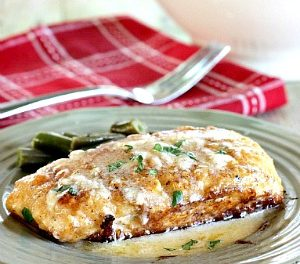 Halibut with Lemon Butter Sauce