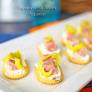 Peperoncini Salami Appetizer