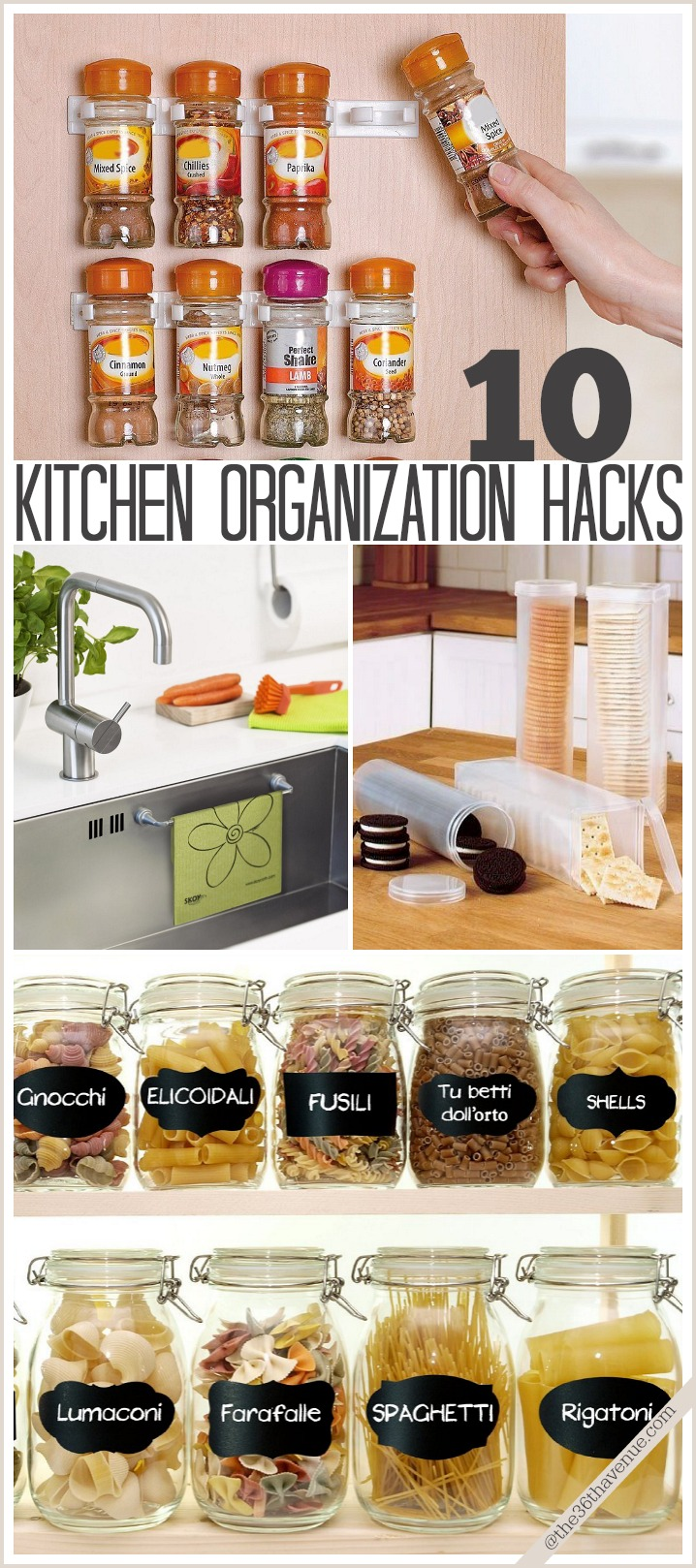 Kitchen Organization Hacks at the36thavenue.com