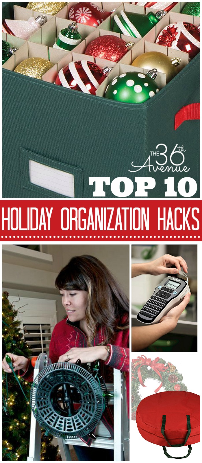 Top 10 Holiday Organization Hacks and Gadgets at the36thavenue.com #organization