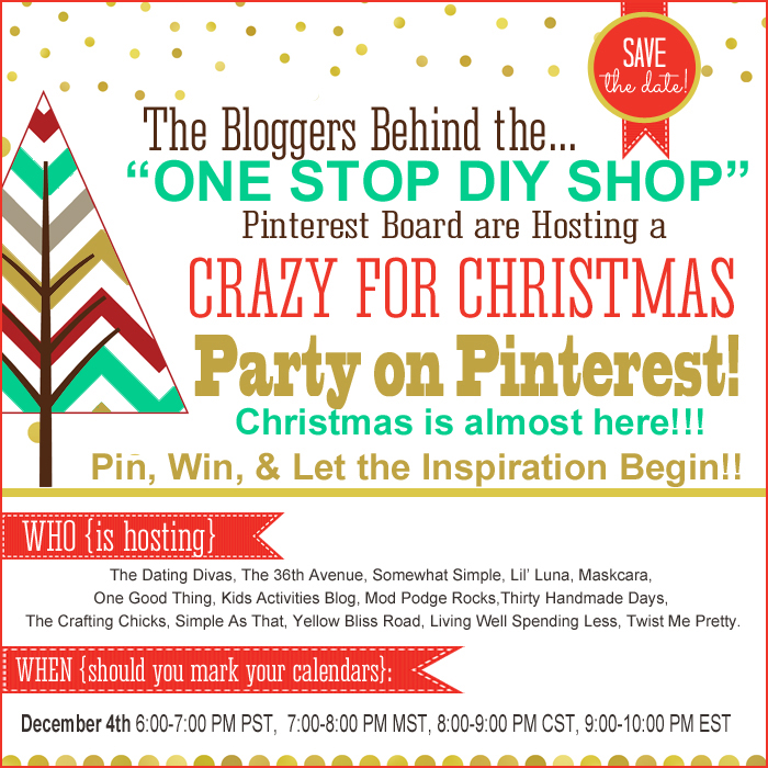 Our CRAZY FOR CHRISTMAS Party on Pinterest is TODAY!