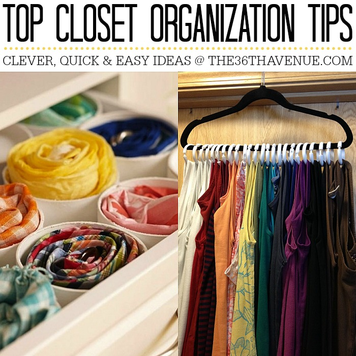 Closet Organization Tips at the36thavenue.com