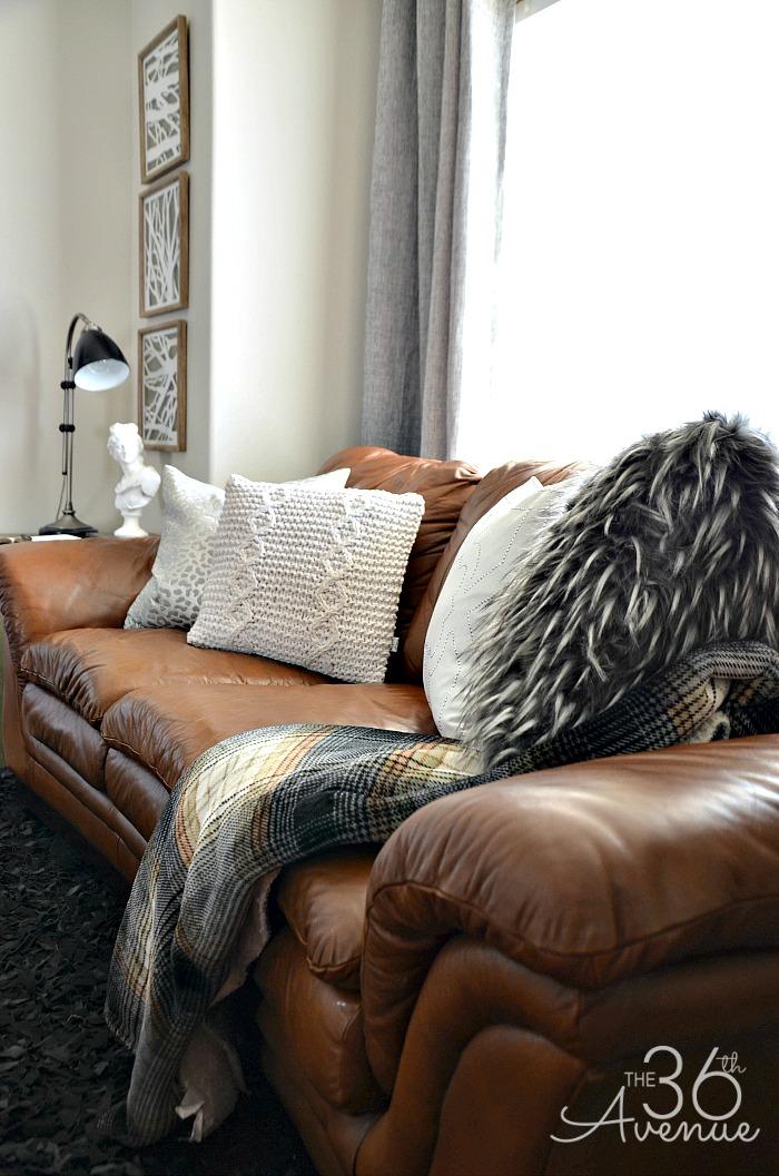 Home Decor - Neutral Home Decor by the36thavenue.com Take a tour! #industrial #livingroom