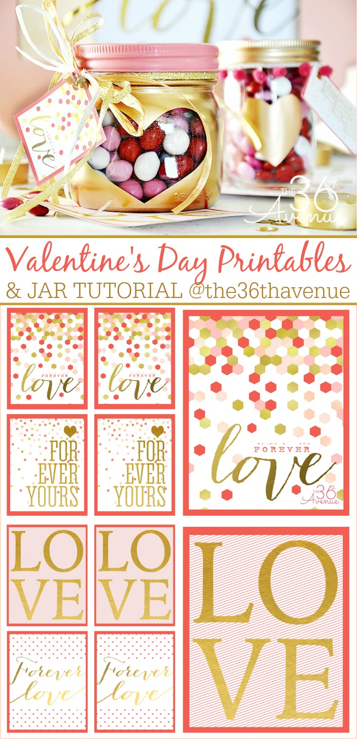 Valentine's Day Free Printable and Jars  the36thavenue.com