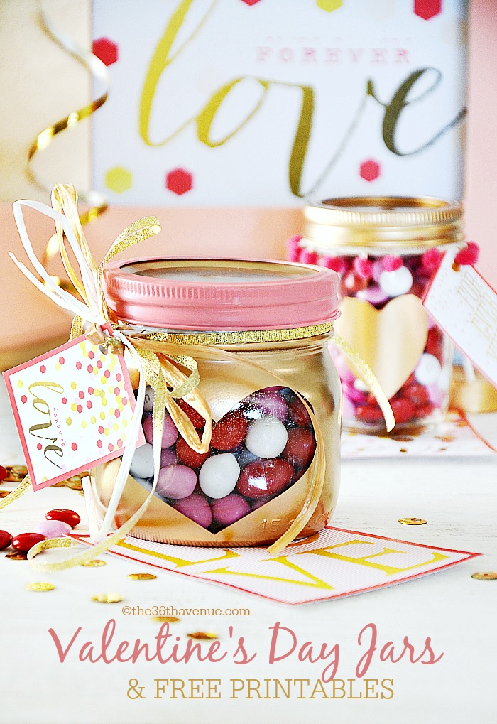 Valentine's Day Gifts - Heart Jars - the36thavenue.com