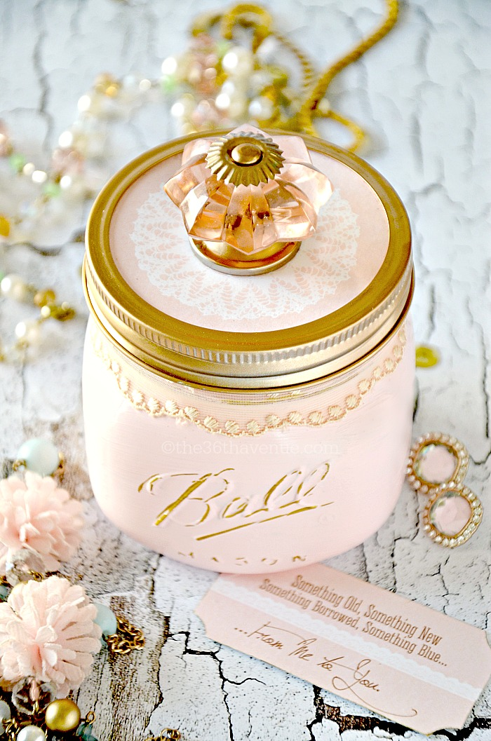 Bridal Mason Jar at the36thavenue.com