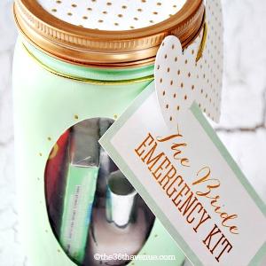Mason Jar Crafts – Bride Emergency Kit