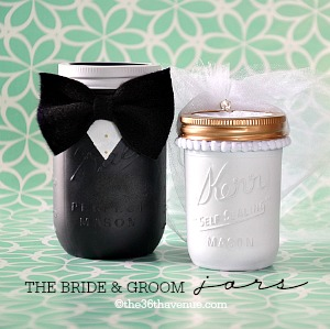 Bride and Groom Jars the36thavenue.com
