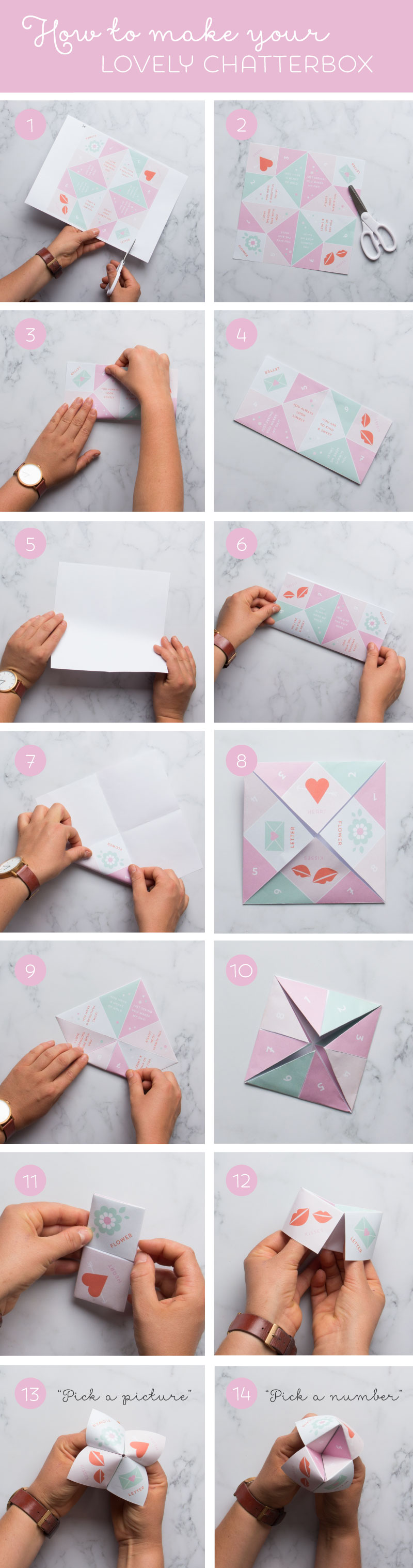 DIY Chatterbox Valentine and Free Printable by www.tinyme.com