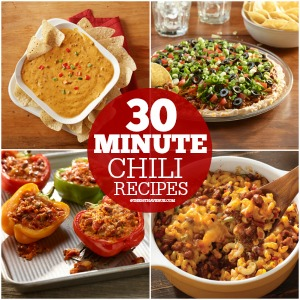 30 Minute Chili Recipes at the36thavenue.com Pin it now and make them later!