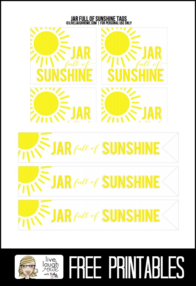 Free Printables Sunshine