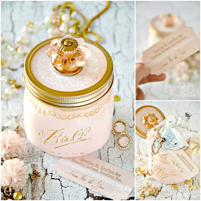 Mason Jar Crafts - Bridal Gift by the36thavenue.com