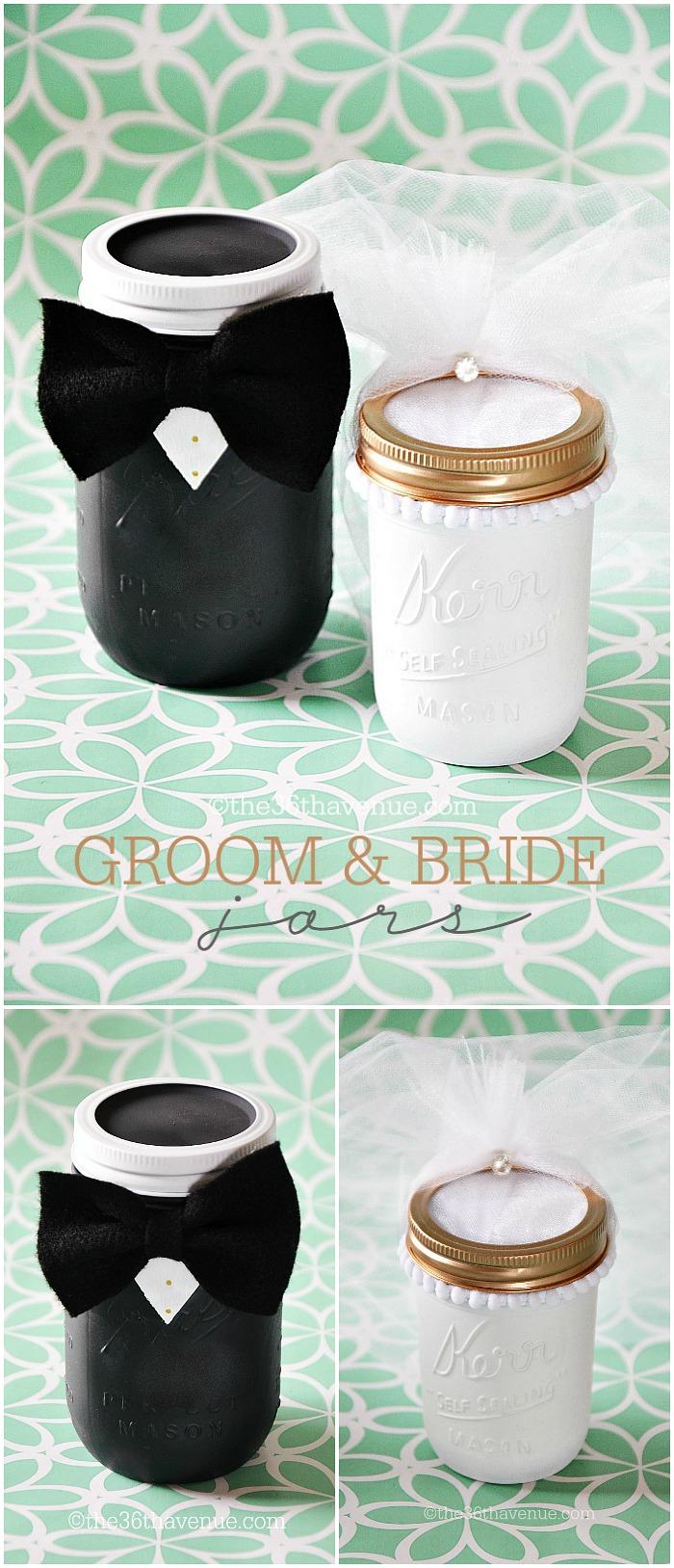 Mason Jar Crafts Groom Bride The 36th Avenue