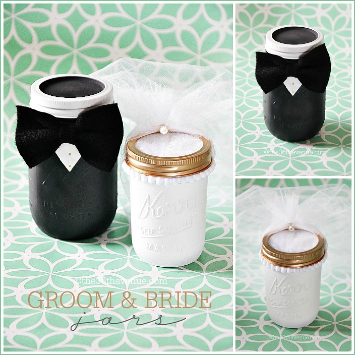 Mason Jar Crafts Groom Bride The 36th Avenue