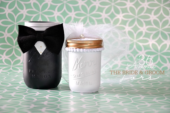Homemade Wedding Gift Ideas For Bride And Groom: Mason Jar Crafts – Groom & Bride