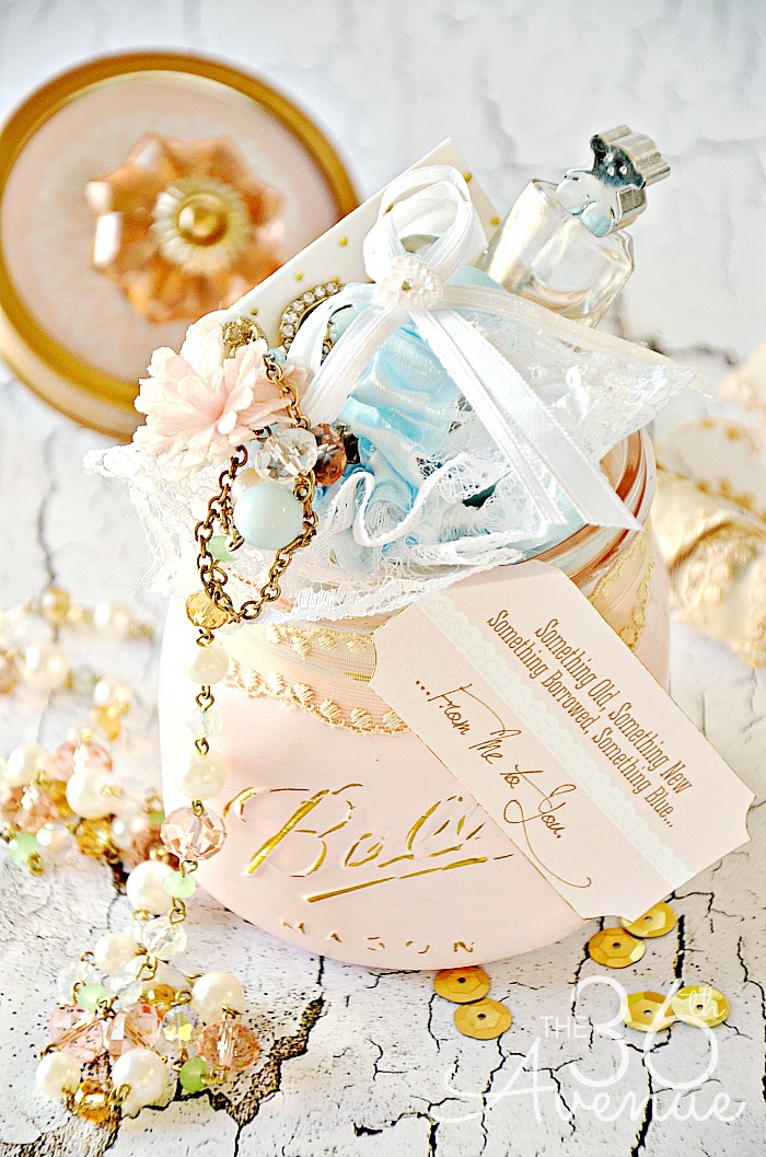 Mason Jar Crafts- Vintage Bride Gift - the36thavenue.com