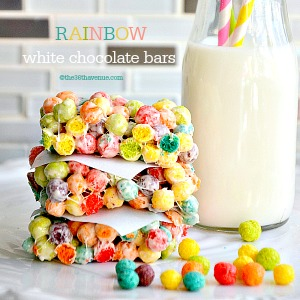 Trix Krispies – White Chocolate Bars