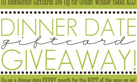 Dinner Date Giftcard Giveaway
