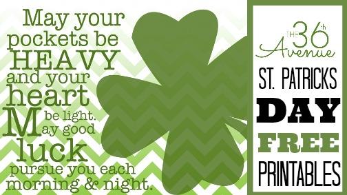 St Patricks Day Free Printables FB