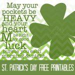 St. Patricks Day Free Printables