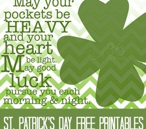 St. Patricks Day Free Printables