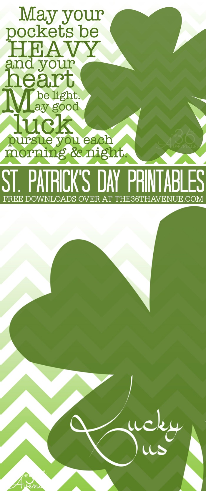 St. Patrick's Day Printables - These are perfect to decorate for the luckiest day of the year!