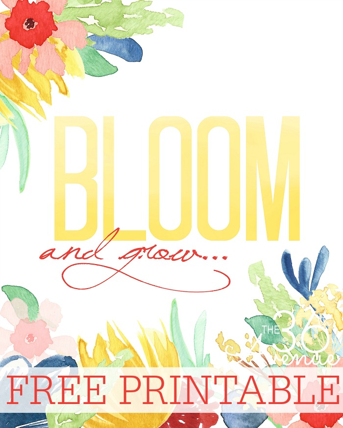 Bloom-Floral-Printable at the36thavenue.com