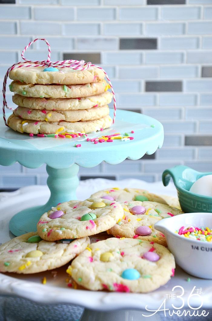 Lemon Cake Mix Cookies With Rice Krispies