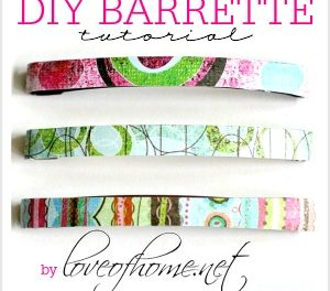 DIY Hair Accessories – Barrettes Tutorial