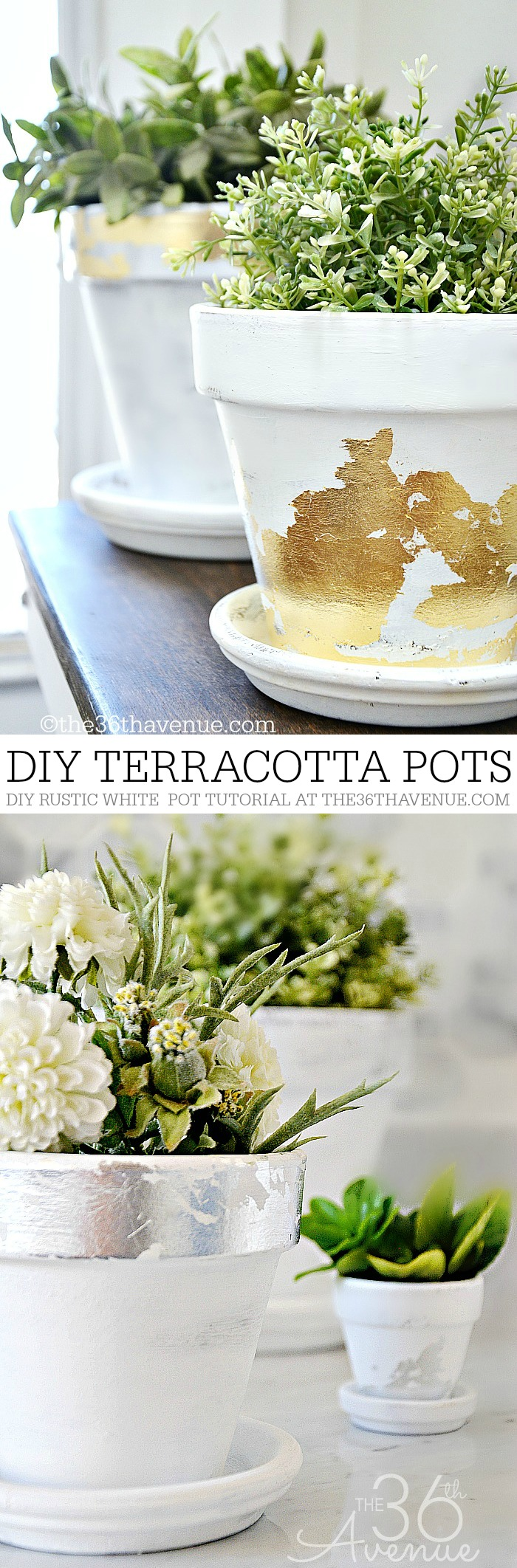 DIY Home Decor - Terracotta Pots Pin It at the36thavenue.com