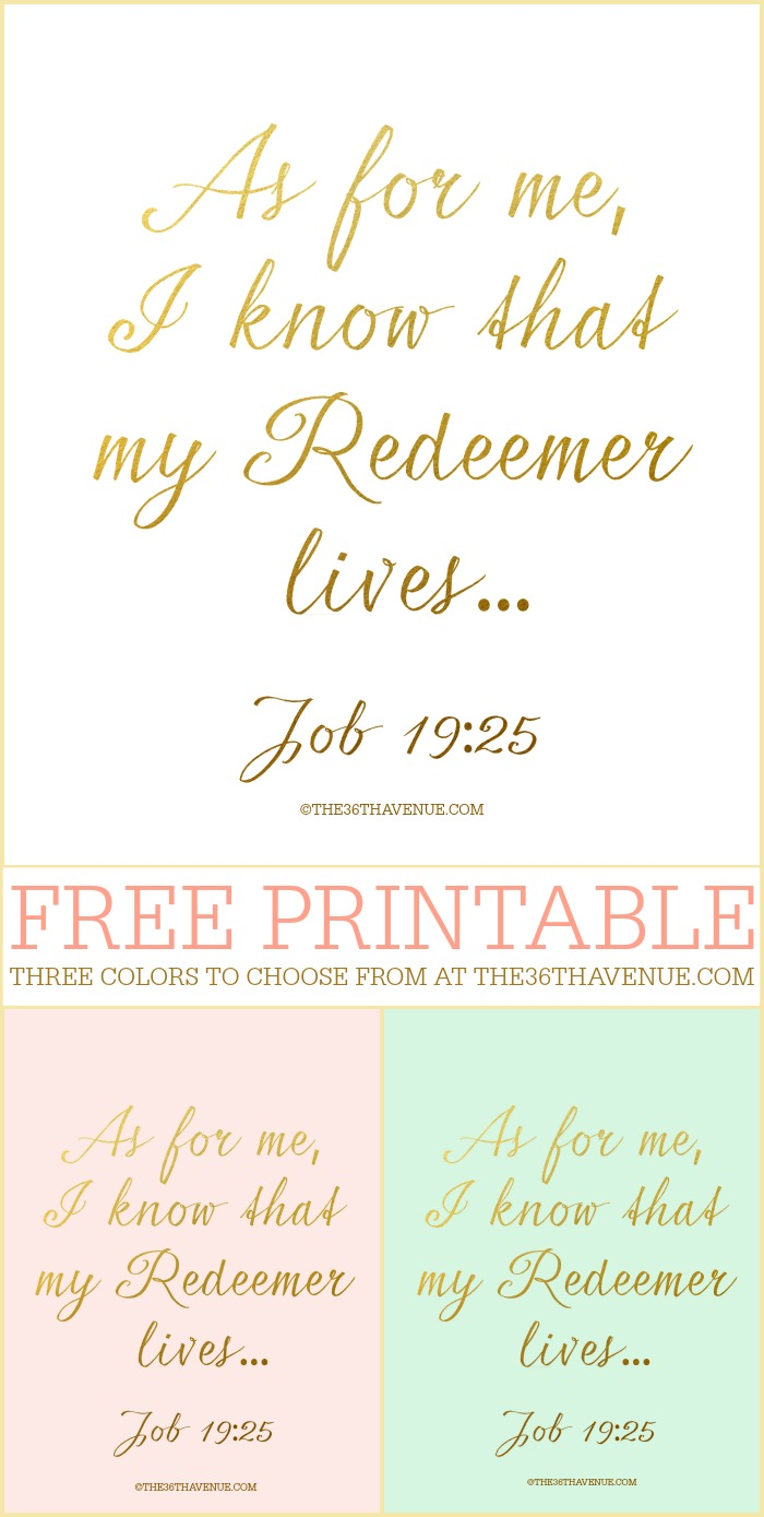 Easter - Free Easter Printables at the36thavenue.com Three colors to choose from!