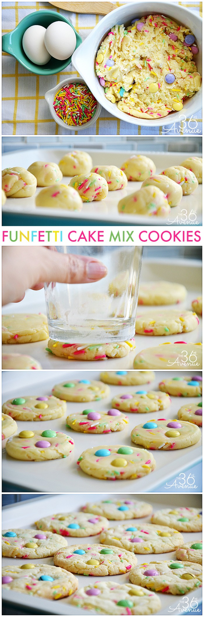 Funfetti Cake Mix Cookie Recipe at the36thavenue.com